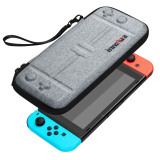 Nintendo Switch Case - innoAura Portable HardShell Slim Travel Carrying Case fit Switch Console & 8 Game Catridges Accessories